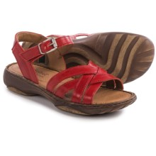 Josef Seibel Debra 23 Criss-Cross Sandals (For Women) in Coral - Closeouts