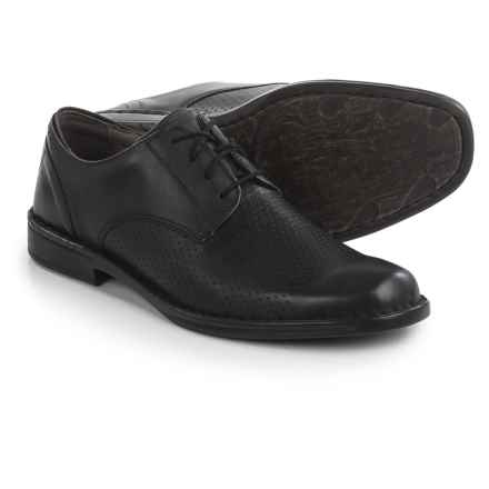 Josef Seibel Douglas 16 Oxford Shoes - Leather (For Men) in Black - Closeouts