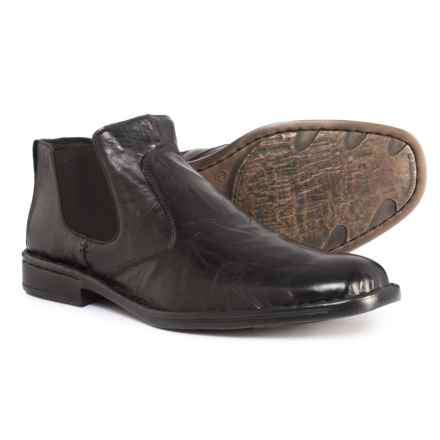 Josef Seibel Douglas 22 Chelsea Boots - Leather (For Men) in Black Bozen - Closeouts