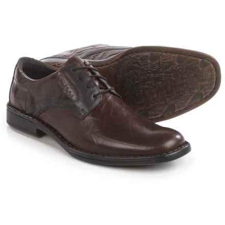 Josef Seibel Douglas 24 Oxford Shoes - Leather (For Men) in Dark Espresso Brown - Closeouts