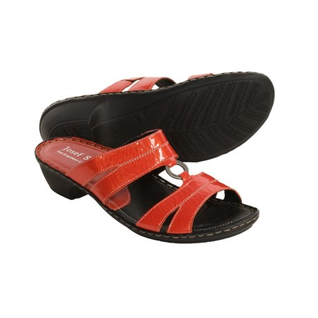 Josef Seibel Emmy Sandals - Slide-Style (For Women) in Black Patent