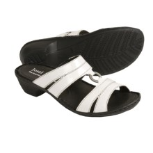 Josef Seibel Emmy Sandals - Slide-Style (For Women) in White Patent - Closeouts