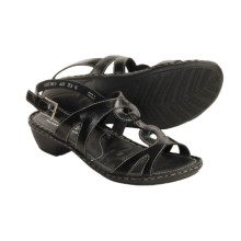 Josef Seibel Erica Sandals - Leather (For Women) in Black - Closeouts