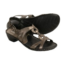 Josef Seibel Erica Sandals - Leather (For Women) in Bronze - Closeouts