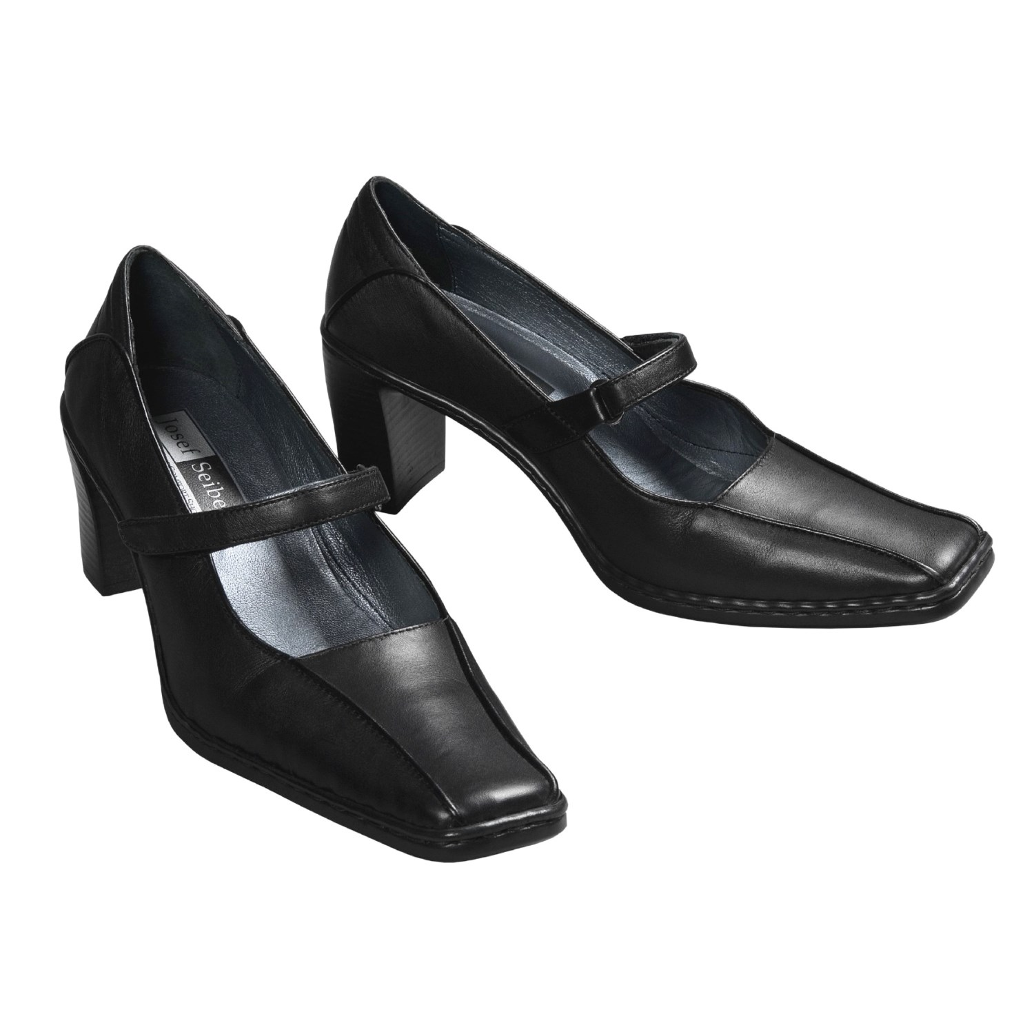 Josef Seibel Faith Mary Jane Shoes (For Women) in Black Smooth