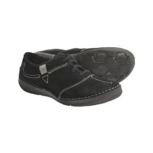 Josef Seibel Fallon Shoes - Suede, Lace-Ups (For Women) in Black - Closeouts