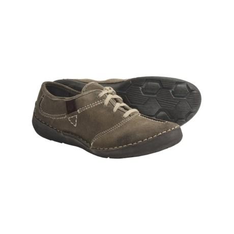 Josef Seibel Fallon Shoes - Suede, Lace-Ups (For Women) in Smoke