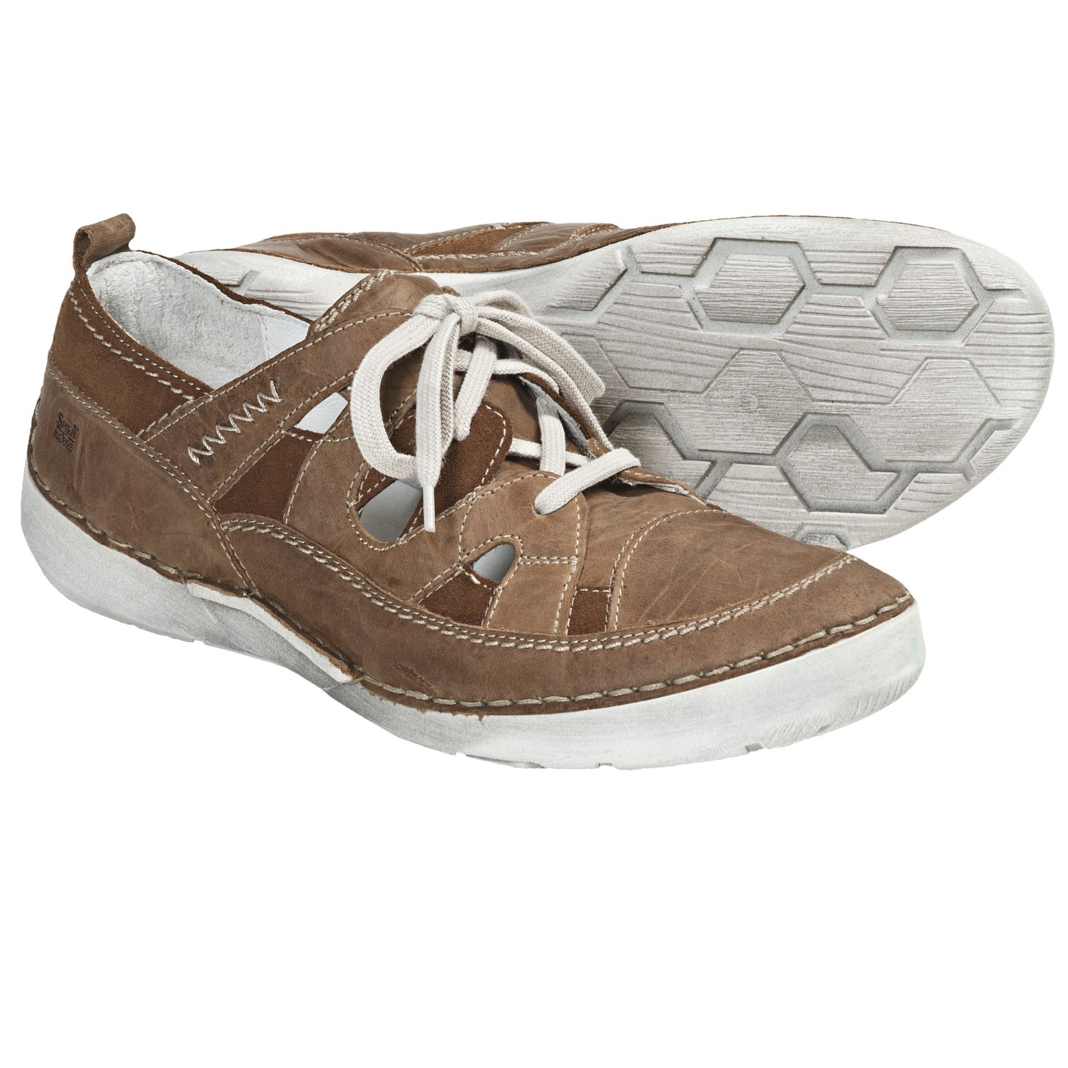 Josef Seibel Felicia Leather Shoes - Lace-Ups (For Women) in Bark