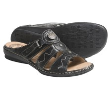 Josef Seibel Gabi Sandals - Leather (For Women) in Black - Closeouts