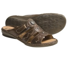Josef Seibel Gabi Sandals - Leather (For Women) in Brown - Closeouts