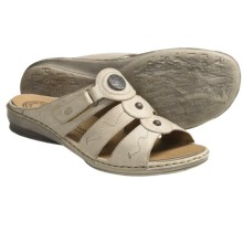 Josef Seibel Gabi Sandals - Leather (For Women) in Porcelain - Closeouts