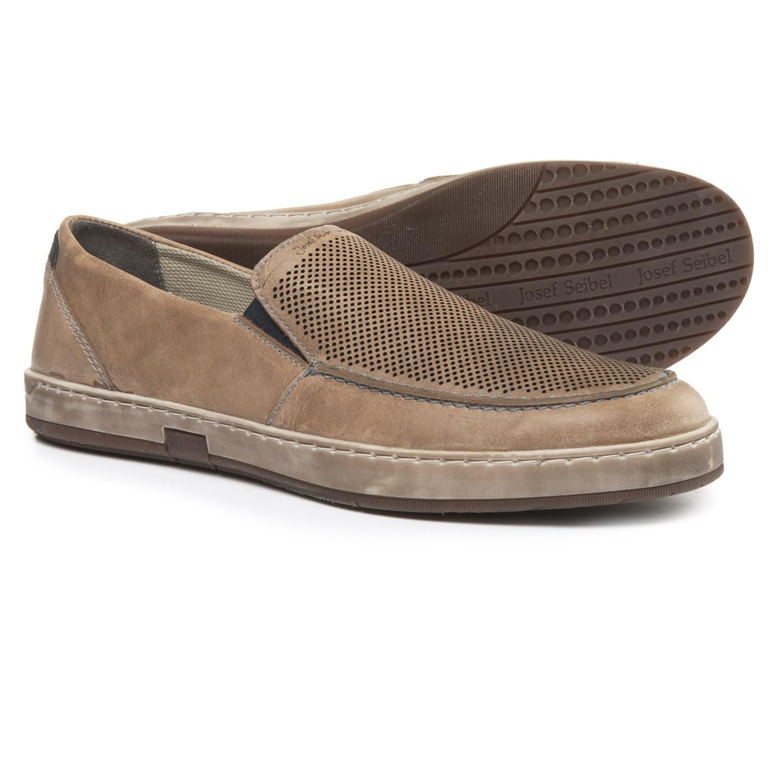 Josef Seibel Grey nubuck extra wide casual shoes 608932011819721