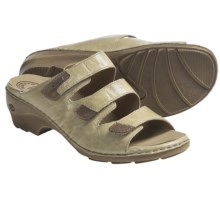 Josef Seibel Gina 02 Sandals - Leather (For Women) in Beige - Closeouts