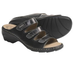 Josef Seibel Gina 02 Sandals - Leather (For Women) in Black