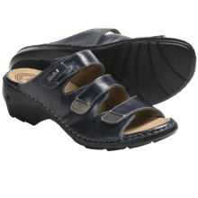 Josef Seibel Gina 02 Sandals - Leather (For Women) in Blue - Closeouts