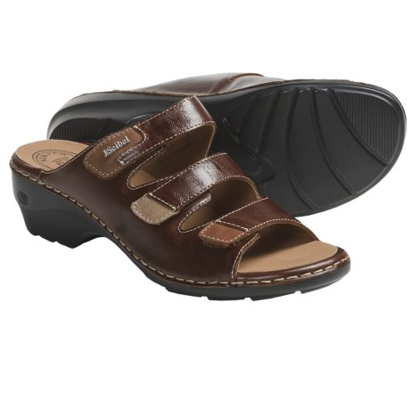 Josef Seibel Gina 02 Sandals - Leather (For Women) in Chestnut