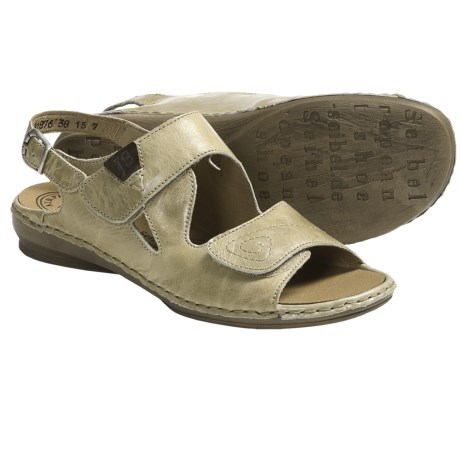 Josef Seibel Grazia 01 Sandals - Leather (For Women) in Beige