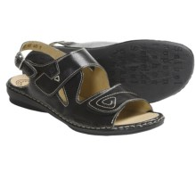 Josef Seibel Grazia 01 Sandals - Leather (For Women) in Black - Closeouts