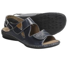 Josef Seibel Grazia 01 Sandals - Leather (For Women) in Blue - Closeouts