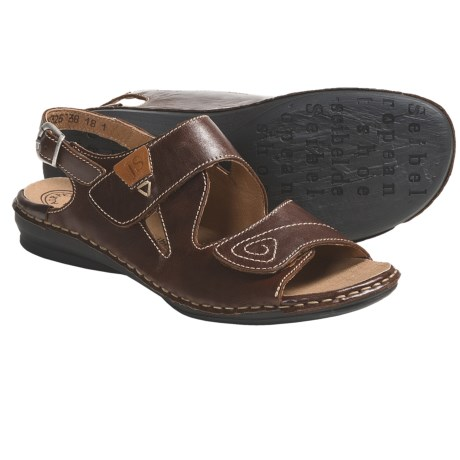 Josef Seibel Grazia 01 Sandals - Leather (For Women) in Chestnut