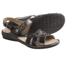 Josef Seibel Grazia 04 Sandals - Leather (For Women) in Black - Closeouts