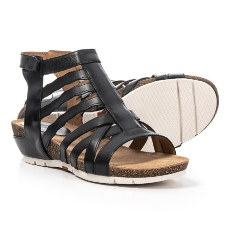 ed790dad1ead Josef Seibel Hailey 17 Gladiator Sandals - Leather (For Women) in Black Como