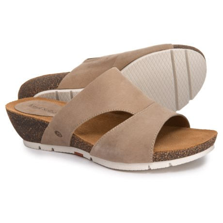a1c2d527c570 Josef Seibel Hailey 40 Wedge Slide Sandals (For Women) in Sand Asti