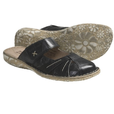 Josef Seibel Izzy Clogs - Leather (For Women) in Black