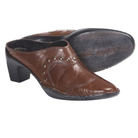 Josef Seibel Kimberly Leather Clogs - Open Back (For Women) in Brandy