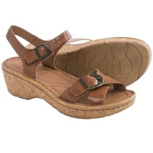 Josef Seibel Kira 09 Platform Sandals - Leather (For Women) in Camel - Closeouts