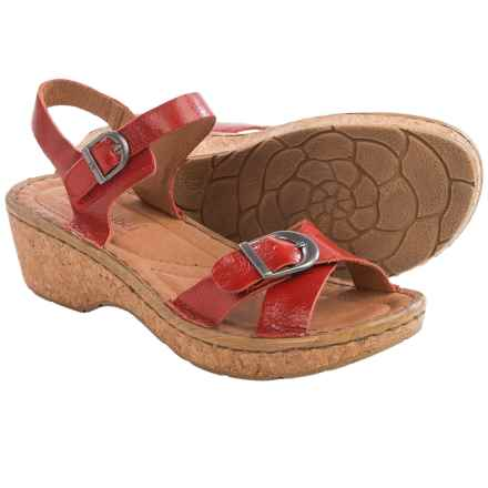 Josef Seibel Kira 09 Platform Sandals - Leather (For Women) in Red - Closeouts