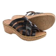 Josef Seibel Kira 11 Wedge Sandals - Leather (For Women) in Black - Closeouts