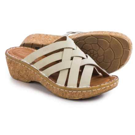 Josef Seibel Kira 11 Wedge Sandals - Leather (For Women) in White - Closeouts