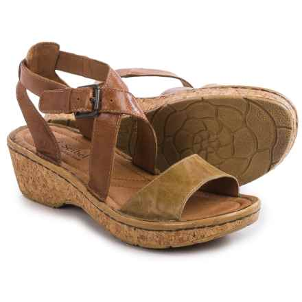 Josef Seibel Kira 13 Leather Sandals (For Women) in Camel/Sand - Closeouts