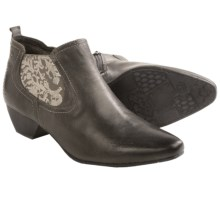 Josef Seibel Kylie 02 Leather Ankle Boots (For Women) in Titanium - Closeouts