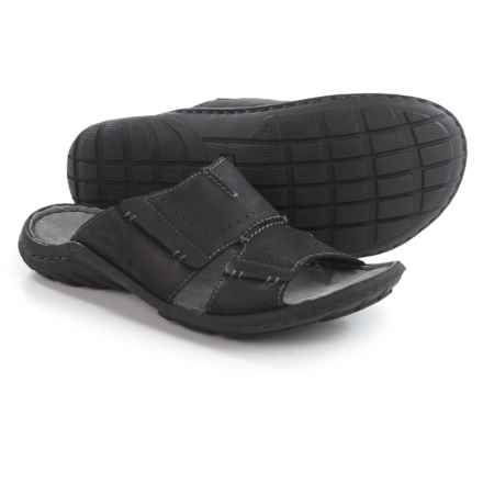 Josef Seibel Logan 21 Sandals - Leather (For Men) in Black - Closeouts