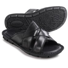 Josef Seibel Luke 07 Sandals - Leather (For Men) in Black - Closeouts