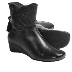 Josef Seibel Makena Wedge Boots - Leather (For Women) in Black