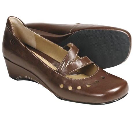 Josef Seibel Malinda Wedge Shoes - Leather, Mary Janes (For Women) in Coffee
