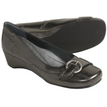 Josef Seibel Mary Pumps - Wedge Heel (For Women) in Asphalt Patent - Closeouts