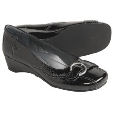 Josef Seibel Mary Pumps - Wedge Heel (For Women) in Black Patent - Closeouts