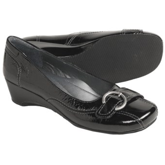 Josef Seibel Mary Pumps - Wedge Heel (For Women) in Black Patent