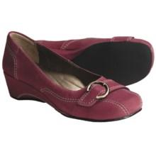 Josef Seibel Mary Pumps - Wedge Heel (For Women) in Cranberry Nubuck - Closeouts