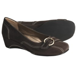 Josef Seibel Mary Pumps - Wedge Heel (For Women) in Black Nubuck