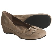 Josef Seibel Mary Pumps - Wedge Heel (For Women) in Mushroom Nubuck - Closeouts