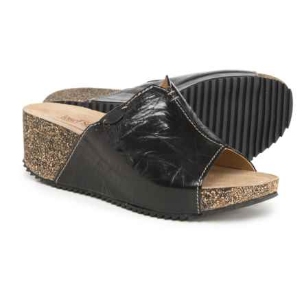 Josef Seibel Meike 07 Wedge Sandals - Leather (For Women) in Black -  Closeouts
