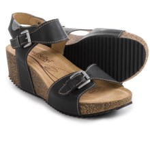 Josef Seibel Meike 09 Leather Sandals (For Women) in Black - Closeouts