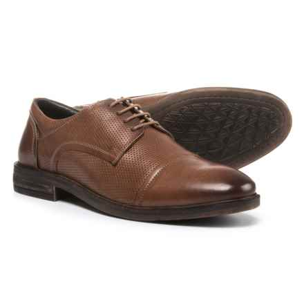 Josef Seibel Myles 05 Cap-Toe Oxford Shoes - Leather (For Men) in Brown Calf - Closeouts