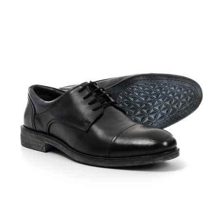 Josef Seibel Myles 19 Cap-Toe Oxford Shoes - Leather (For Men) in Black - Closeouts