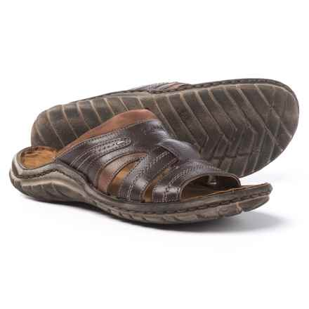 Josef Seibel Nico 01 Slide Sandals - Leather (For Men) in Moro/Kombi Manaus/Kombi - Closeouts